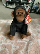 Retired Rare Ty Beanie Baby Congo The Gorilla Plush Toy 4160 With Factory Stamp