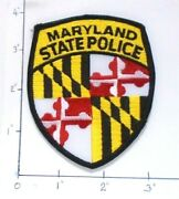 Gently Used- Smaller Badge Size New Maryland State Police Embroidered Patch 3.5