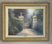 The Open Gate - Signed Framed And Personally Enhanced By Thomas Kinkade