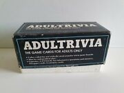 Vintage Adultrivia Card Game 1984. Adults Only Trivial Pursuit Cards