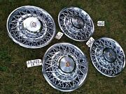 1963-92 Nos Cadillac Oem Wire Wheel Covers Set 4 Fleetwood Deville