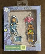 Disney Parks Haunted Mansion With Maidclockbat And Sign Mini Ornament Set Of 4