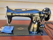 Vintage Singer 15-91 Heavy Duty Sewing Machine Centennial Tested Working