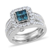 Diamond Ring 14k White Gold Fine Jewelry Gift Size 7 Ct 1.2 H Color I3 Clarity