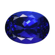 Shop Lc Aaaa Blue Tanzanite Loose Gemstone Oval Shape For Jewelry Making Ct 4.21