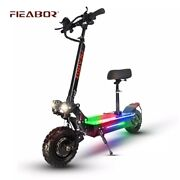 Electric Scooter Dual Motor 11inch Off Road Tires Fast Speed 60v 5600w For Adult