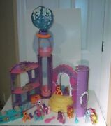 Rare Lot My Little Pony Celebration Castle And Ponies + More