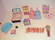 Huge Lot Fisher Price Loving Family Babies Furniture Accessories + More