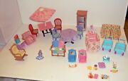 Huge Lot Fisher Price Loving Family Dollhouse Furniture Accessories + More