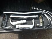 1952-53 Ford Grill Guard And Bumper Guard With Wings Nos