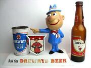 50's Drewrys Big D Display Beer Toy Vintage Rare With Bottle Bin Can From Japan