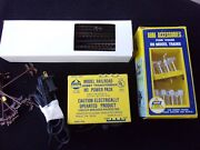 Vintage Lot Ahm Model Railroad Hobby Transformer, Track, Signs. Pre Owned.