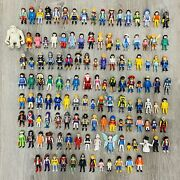 Playmobil Lot Of 130 Figures Cowboys Fairies Kids Yeti Firefighters Knights