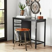 Mainstays Sumpter Computer Desk Office Home Cube Storage Black Finish Free Usa