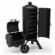 Dyna-glo Series Dgss1382vcs-d Heavy-duty Vertical Offset Charcoal Smoker And Grill