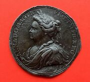 🔥unique🔥medal Proclamation Queen Anna Bust Test 1701 Great Britain England