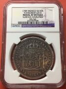 🔥rare🔥silver Medal Proclamation 8 Reales Carlos Iv 1789 Mexico Mint