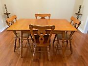 Antique Maple Dining Table And 4 Chairs 100 Plus Years Old