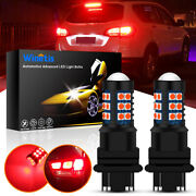 3157 30smd-3030 For Nissan Altima Frontier Maxima Red Brake Tail Lights Bright