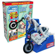 Variant Limited Edition Evel Knievel Stunt Cycle White Trail Bike 70and039s Daredevil