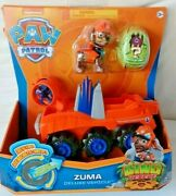 Paw Patrol Zuma Rev Up Deluxe Vehicle Dino Rescue With Mystery Dino Figure