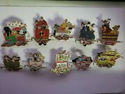Disney Pin - Magical Train Mystery Collection 2006 Set Of 10 Maleficent Goofy