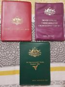 Australia Three Uncirculated Coin Sets 19771982 And 1983