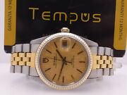 Tudor Oysterdate 74033 Textured Dial Steel And 18 Kt Gold Year 1992 Watch