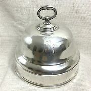 Antique Christofle Silver Plated Dome Cloche Food Cover Bell French 19th Century