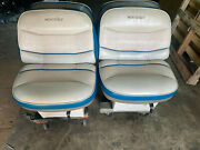 Monterey 2 Back To Back Folding Lounge Reclining Boat Seats Wide