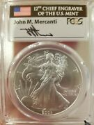 2003 Mercanti Silver Eagle Pcgs Ms70 Pop. Of Only 62
