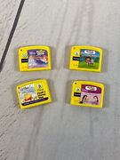 Lot Of 4 Leap Frog My First Leap Pad Game Cartridges - Dora-pooh-disney