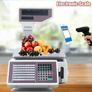 Commercial Digital Price Computing Scale W/ Thermal Label Printer F Supermarket