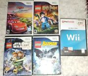 Nintendo Wii Video Game Lot - 5 Used Games Lego Cars Iron Man Rr7