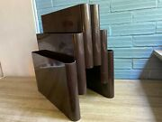 Vintage Kartell Magazine Rack Space Age Design Mid Century By Giotto Stoppino