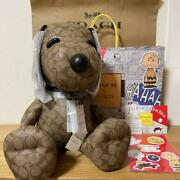 2021coach X Peanuts Snoopy Collectible Signature Canvas Khaki Limited Doll Japan