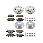 K2798-36 Powerstop Brake Disc And Pad Kits 4-wheel Set Front And Rear New For Jeep