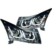 121462 Anzo Headlight Lamp Driver And Passenger Side New For Chevy Sedan Lh Rh
