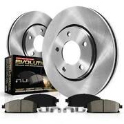 Koe528 Powerstop Brake Disc And Pad Kits 2-wheel Set Front New For Vw Passat A4