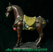 20 Antique Old China Wucai Porcelain Pottery Tang Dynasty Stand Horse Statue