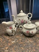 Vintage Tea Set Acme China - 23 Pieces Made In Japan - Moss Rose