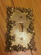 Vtg Vintage Switch Light Plate Cover Antique Patina American Tack And Hdwe 1967