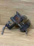 Vintage Small Clamp On Bench Vise