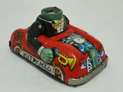 Rare 1960's Vintage Marx Nutty Mad Crazy Monster Tin Friction Car Missing Head