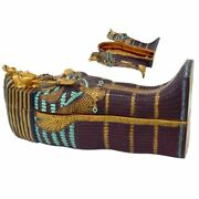 Ancient Egyptian Artifact King Tut Sarcophagus Coffin With Mummy Collectible