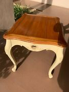 Pristineethan Allen Legacy/country French Carved End Table