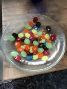 1990andrsquos Pop Art Andra Duree Mandm Candy Pattern Fused Glass Dish