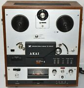 Vintage Akai X-360d 4-track 2-ch. Reel-to-reel Tape Deck Recorder / Player As-is