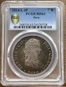 🔥ms63🔥silver Coin 8 Reales Ferdinand Vii Year 1814 Mint Lima Peranduacute Ngc Ms63