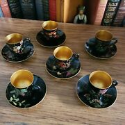 6 Vintage Made In Occupied Japan Crockery Tea Cup And Saucer Set Hand Made Paint
